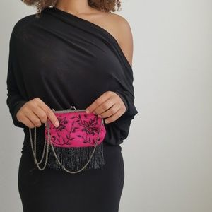 Vintage Hot Pink Coin Purse
